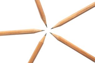 五角形に並んだ鉛筆の写真素材 [FYI00440278]