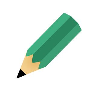 斜めに傾けた緑色の鉛筆の写真素材 [FYI00440279]