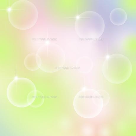 泡と星のパステルカラーの背景イラストの素材 [FYI00440280]