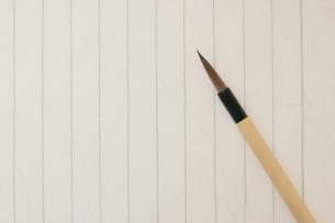 便箋と筆の写真素材 [FYI00440282]
