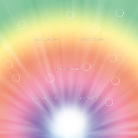 水滴とパステルカラーの背景イラストの素材 [FYI00440287]