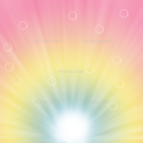 水滴とパステルカラーの背景イラストの素材 [FYI00440299]