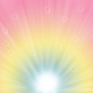 水滴とパステルカラーの背景イラストの写真素材 [FYI00440299]