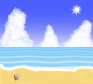 夏の海岸のイラストの写真素材 [FYI00440344]