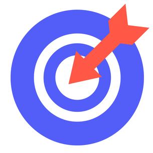 的に命中する矢の写真素材 [FYI00440352]