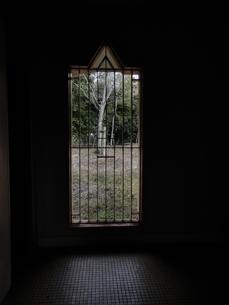 冬の鉄窓から見た景色の写真素材 [FYI00440400]