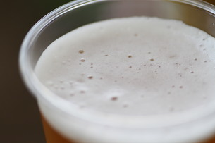 ビールの泡の写真素材 [FYI00440518]