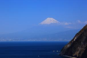 駿河湾と富士山の写真素材 [FYI00440934]