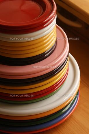 色彩豊かな食器の写真素材 [FYI00441347]