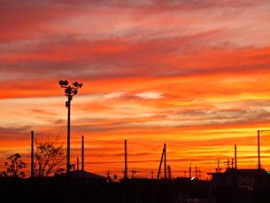 秋の夕焼けの写真素材 [FYI00442063]