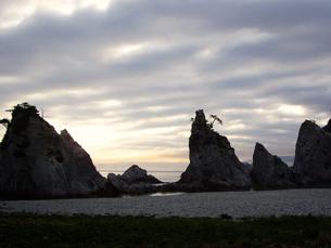 早朝の浄土ヶ浜の写真素材 [FYI00442086]