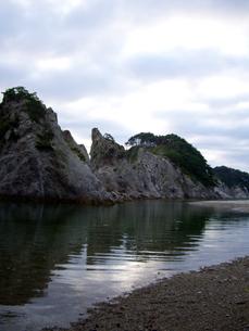 早朝の浄土ヶ浜の写真素材 [FYI00442100]