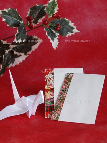 折鶴とポチ袋の写真素材 [FYI00442130]