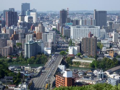 大年寺から見渡す仙台市街の写真素材 [FYI00442200]