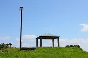 青森・堤川緑地公園の高台の写真素材 [FYI00442724]