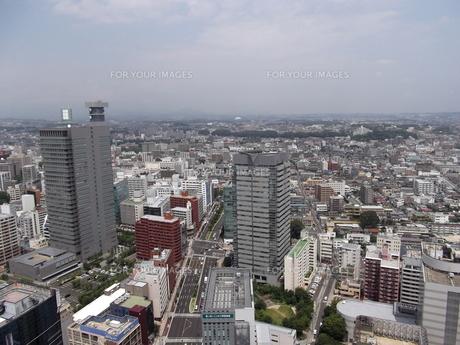 アエルから望む仙台の展望風景(北仙台方向)の写真素材 [FYI00442743]