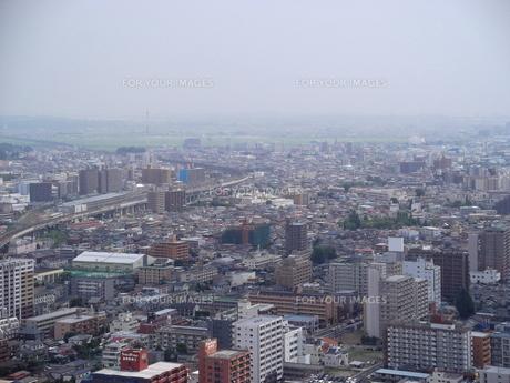 アエルから望む仙台の展望風景(東仙台方向)の写真素材 [FYI00442746]