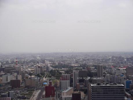 アエルから望む仙台の展望風景(仙台駅東側方向)の写真素材 [FYI00442752]