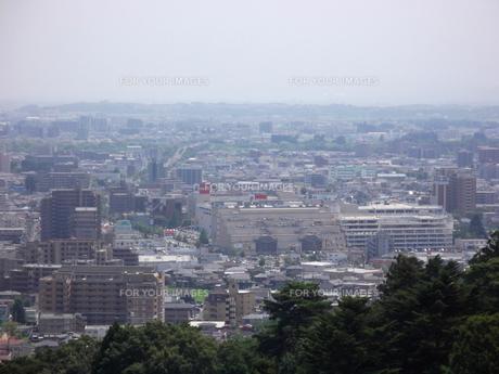 大年寺から望む仙台の展望風景(長町南方向)の写真素材 [FYI00442758]