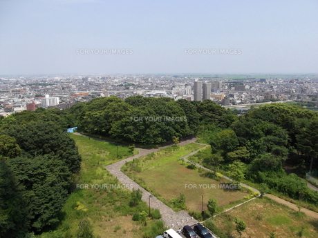 大年寺から望む仙台の展望風景(北側)の写真素材 [FYI00442762]