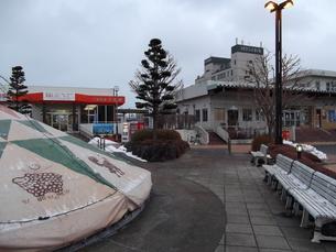 久慈駅前の写真素材 [FYI00443027]