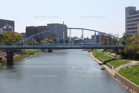 白川・大甲橋から安巳橋と銀座橋の写真素材 [FYI00443054]