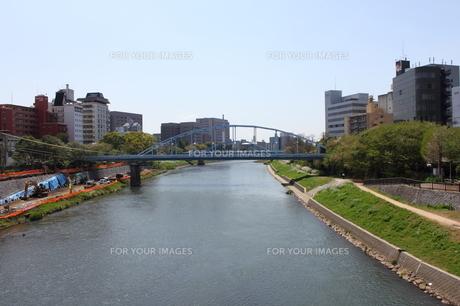 白川・大甲橋から安巳橋と銀座橋の写真素材 [FYI00443064]