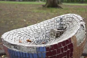 青森・平和公園の水飲み場の写真素材 [FYI00443184]