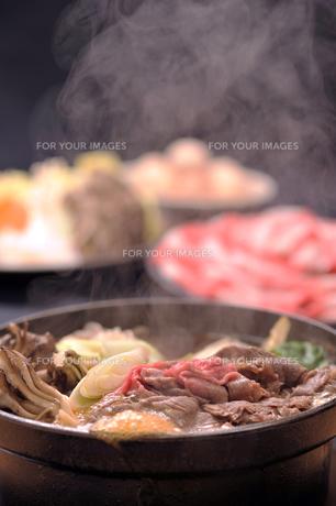すき焼きと湯気1の素材 [FYI00443292]