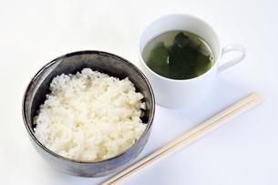 ご飯とワカメスープの素材 [FYI00443416]