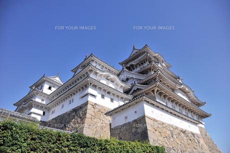 姫路城と青空1-3の素材 [FYI00443459]