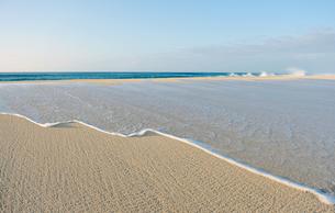 波と砂浜-3の写真素材 [FYI00443687]