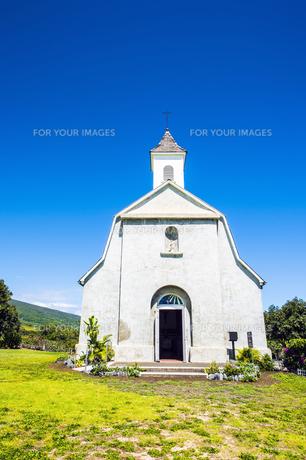 マウイ島セント・ジョセフ教会とハレアカラ国立公園-3の素材 [FYI00443723]