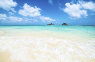 オアフ島ラニカイビーチと亀の形の雲-1の素材 [FYI00443779]