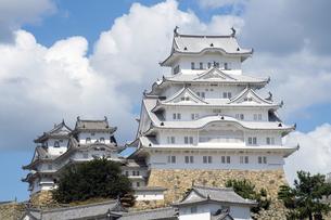 姫路城修理完了-2の写真素材 [FYI00443837]