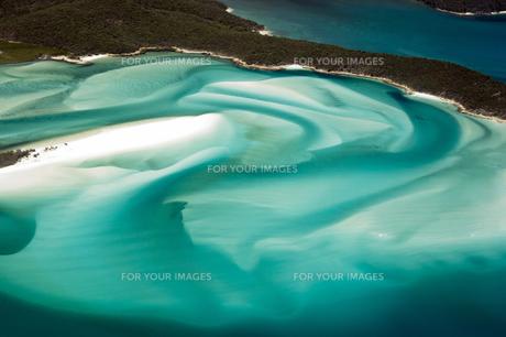 ホワイトヘブンビーチ空撮-6の写真素材 [FYI00443870]