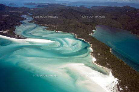 ホワイトヘブンビーチ空撮-8の写真素材 [FYI00443894]