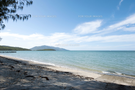 ディンゴビーチ、エアリービーチ、グレートバリアリーフ、クィーンズランド、オーストラリア-2の写真素材 [FYI00443962]