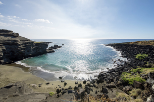 グリーンサンドビーチ、サウスポイント、ハワイ島-2の素材 [FYI00444022]