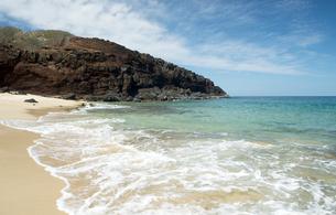 ポハク・マウリウリ・ビーチ、モロカイ島、ハワイ-4の写真素材 [FYI00444109]