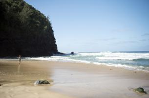 ハナカピアイ・ビーチ、カウアイ島、ハワイの写真素材 [FYI00444159]