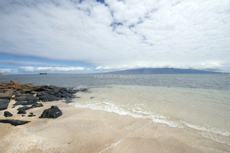 Kaiolohia Beach(Shipwreck Beach)ラナイ島、ハワイ-4の素材 [FYI00444162]