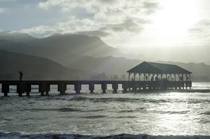 ハナレイ桟橋、カウアイ島、ハワイ-2の素材 [FYI00444163]