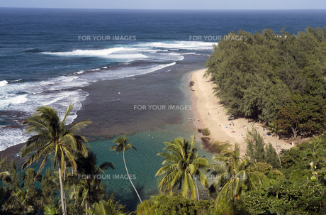 ケエ・ビーチ、カウアイ島、ハワイ-1の写真素材 [FYI00444168]