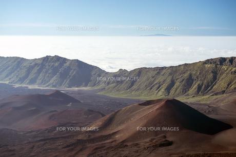ハレアカラクレーター、マウイ島、ハワイ-6の素材 [FYI00444217]
