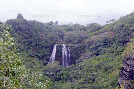 ワイルア滝、カウアイ島、ハワイの素材 [FYI00444288]