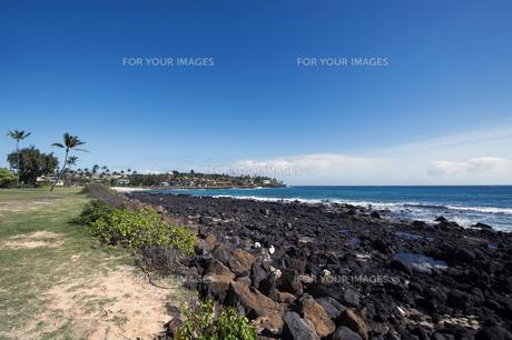 ポイプビーチパーク、カウアイ島、ハワイ-3の素材 [FYI00444303]