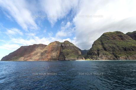 ナ・パリ・コースト、カウアイ島、ハワイ-3の写真素材 [FYI00444315]