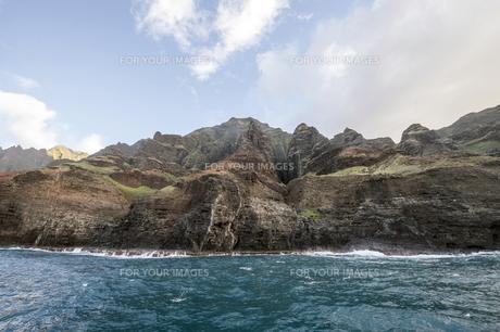 ナ・パリ・コースト、カウアイ島、ハワイ-7の写真素材 [FYI00444323]