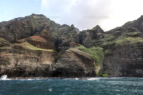 ナ・パリ・コースト、カウアイ島、ハワイ-9の写真素材 [FYI00444324]